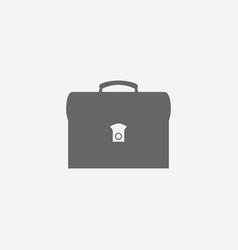 Business symbol of briefcase web vector