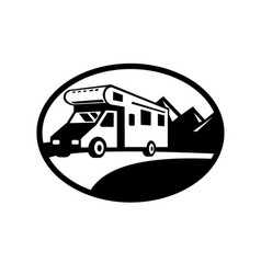 campervan motorhome caravan van on road vector image