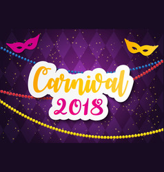 carnival brochure template for brazil carnival in vector image