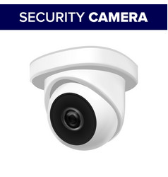 ceiling supervision security video camera vector image