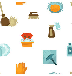 Cleaning service tools and instruments seamless vector