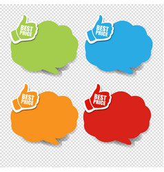 colorful speech bubble best price transparent vector image