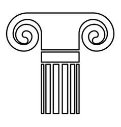 column ancient style antique classical column vector image