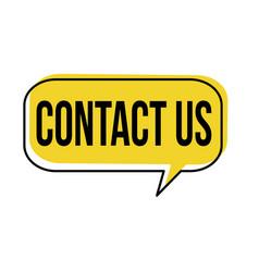 Contact us speech bubble vector