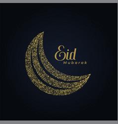 Creative eid festival moon made with dots vector