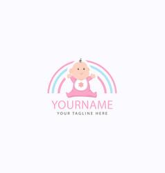 cute little baface for bashop logo design vector image