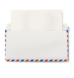 Dl air mail envelope with white paper inside vector