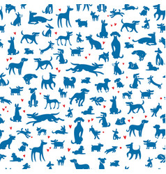 Dogs silhouettes background vector