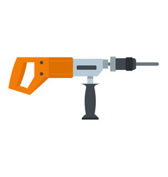 Electric drill perforator icon isolated vector