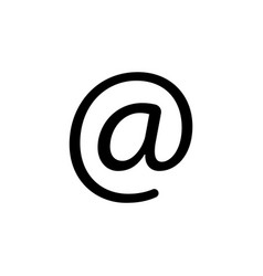 email icon black on white vector image