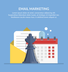 Email marketing advertising mailing by mail vector