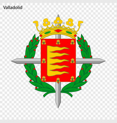 emblem of valladolid city of spain vector image