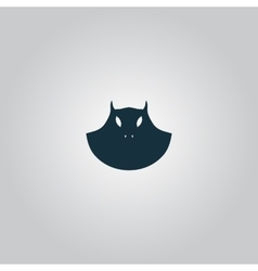 Executioner evil face mask icon vector image