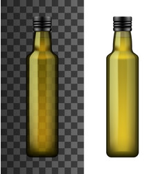extra virgin olive or sunflower oil in bottle vector image