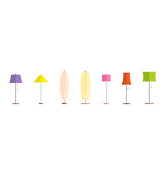 floor lamp set icons vector image
