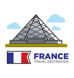 france travel destination landmark louvre vector image