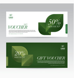 gift voucher template for spa hotel resort vector image