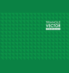 Green triangle background vector