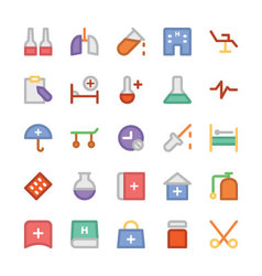 Health Colored Icons 7 vector image