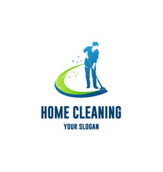 home cleaning vector image
