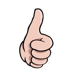 human cartoon hand showing a thumbs up vector image