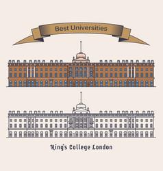 Kcl or kings college londonuniversity in england vector