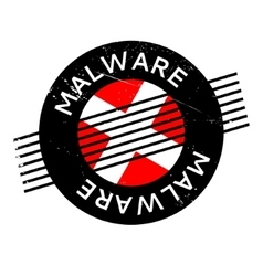 Malware rubber stamp vector