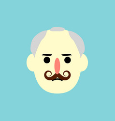 man face - flat design vector image