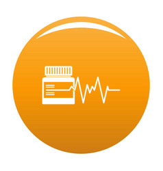 Medicament icon orange vector