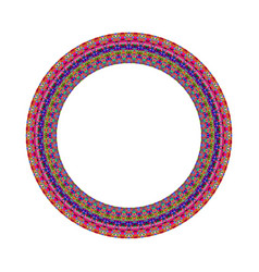 Mosaic round frame - geometrical abstract vector