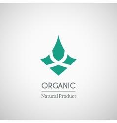 Organic natural product logo vector