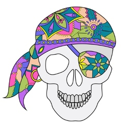 painted skull vector image