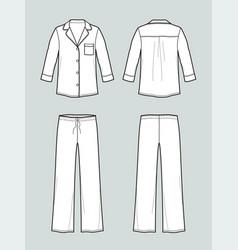 Pajamas suit vector