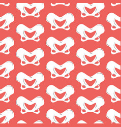 Pelvic bones seamless pattern bone ornament vector