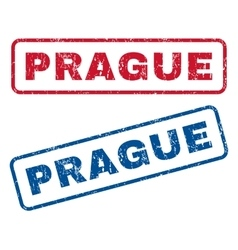 Prague Rubber Stamps vector image vector image