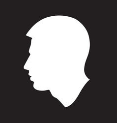 profile silhouette of a man vector image
