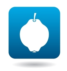 Quince icon in flat style vector