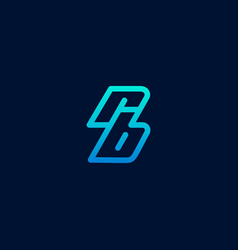 Rb logo lettering design on dark blue background vector