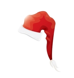 red santa hat isolated on white background vector image