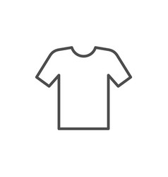 round neck t-shirt line icon vector image