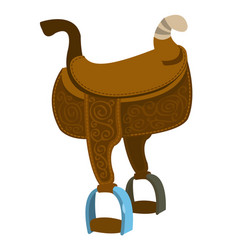 saddle equipments for animals vector image