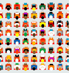 Seamless background with spectators vector