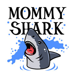 shark t shirt 004 vector image