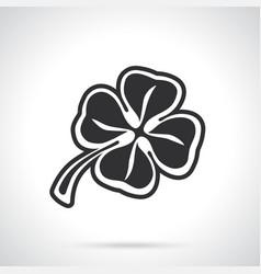 Silhouette clover vector