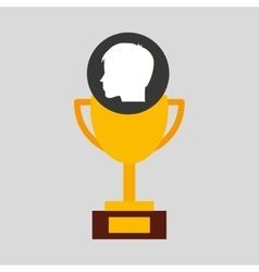 Silhouette head boy student award win vector