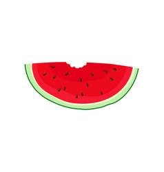 Slice watermelon in shape a semicircle vector