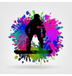 Snowboarding background vector