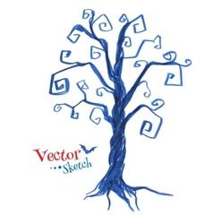 Spooky tree vector image