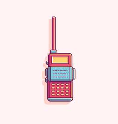 Talkie walkie flat vector