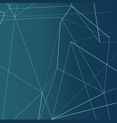 technology modern background with connected lines vector image